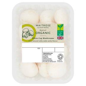 Duchy Organic White Cup Mushrooms