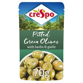 Crespo pitted green olives herbs &garlic