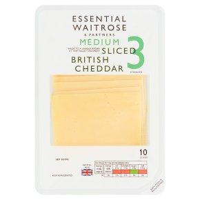 Essential Medium Sliced 10s Cheddar Strength 3