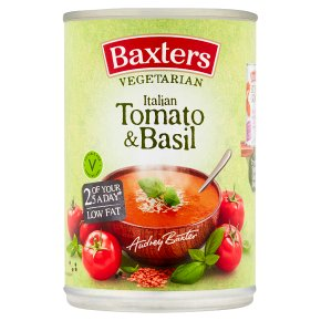 Baxters vegetarian soup tomato with basil