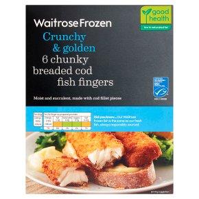 Waitrose 6 Breaded Cod Fingers
