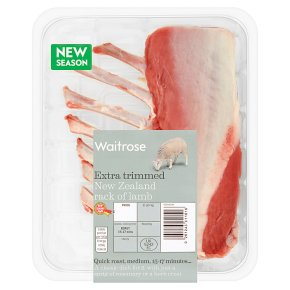 Waitrose extra trimmed New Zealand rack of lamb