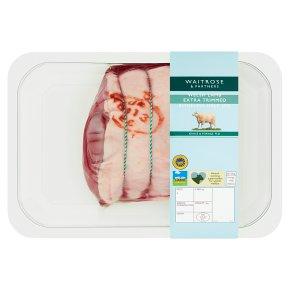 Waitrose Boneless Extra Trim British Half Leg Of Lamb