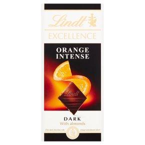 Lindt Excellence Orange Intense Dark with Almonds