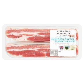 Essential Unsmoked Bacon 12 Streaky Rashers