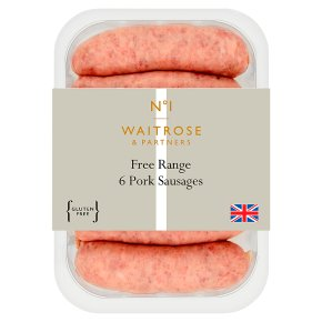 No.1 Free Range Pork Sausages 6s