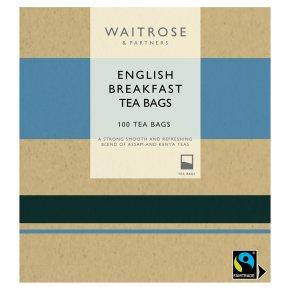 Waitrose English Breakfast 100 Tea Bags