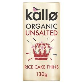 Kallo rice cakes no added salt
