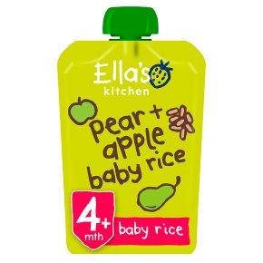 Ella's Ktchen Pears Apples + Baby Rice