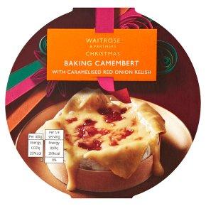 Waitrose Christmas Baking Camembert Red Onion Relish