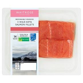 Waitrose 2 MSC Wild Keta Salmon Fillets