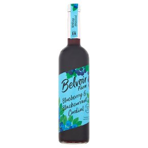 Belvoir blueberry & blackcurrant cordial