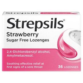Strepsils Strawberry Sugar Free