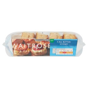 Waitrose 4 All Butter Scones