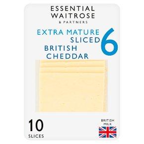 Essential Extra Mature Sliced 10s Cheddar Strength 6