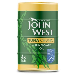 John West MSC Tuna Chunks in Sunflower Oil