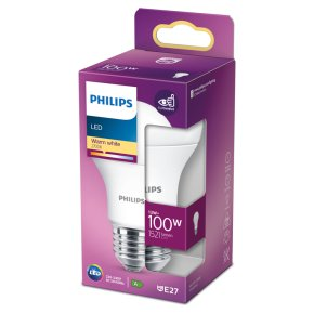 Philips LED White Frosted 13w E27