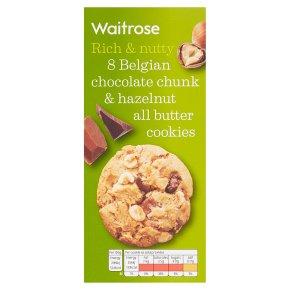 Waitrose 8 Belgian Chocolate & Hazelnut Cookies