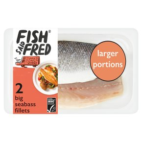 Fish Said Fred 2 Big Fillets of Sea Bass