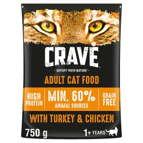 Crave Cat with Turkey & Chicken