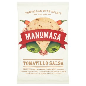 Manomasa tortillas tomatillo salsa