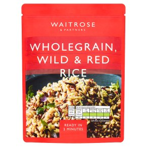 Waitrose Wholegrain, Wild & Red Rice