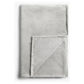 John Lewis Fleece Throw, Pale Grey