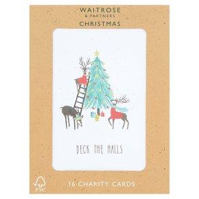 Waitrose Christmas Reindeer Cards