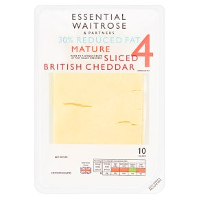 Essential 30% Reduced Fat Mature Sliced Cheddar 10s