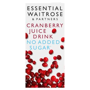 Essential No Added Sugar Cranberry Juice Drink