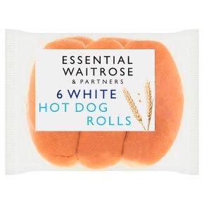 essential Waitrose White Hot Dog Rolls