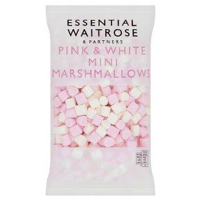 Essential Pink & White Mini Marshmallows