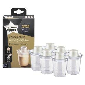 Tommee Tippee Milk Powder Dispenser 6pk