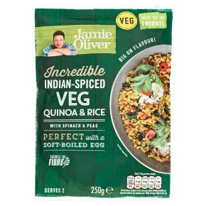 Jamie Oliver Indian-Spiced Veg Quinoa & Rice