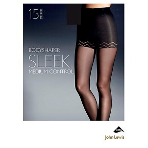 John Lewis15 denier sleek natural black bodyshaper (large)