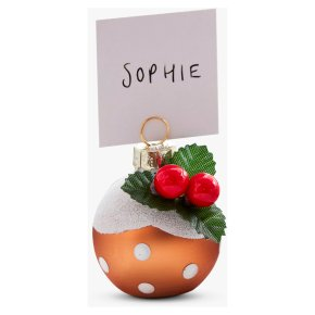 Ginger Ray 6 Christmas Pudding Place Card Holders