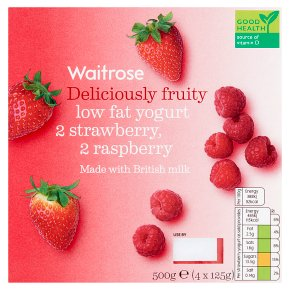 Waitrose Deliciously Fruity Strawberry & Raspberry Yogurt