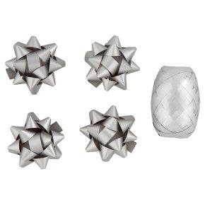 Waitrose silver ribbon & bows pack