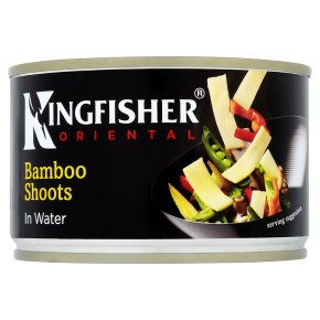 Kingfisher bamboo shoots in water