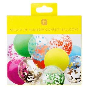 TT Rainbow Confetti Balloons