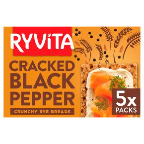 Ryvita Deli Cracked Black Pepper Crispbread