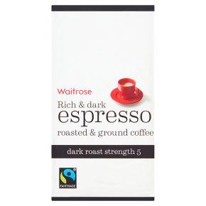 Waitrose Rich & Dark Espresso Ground Coffee