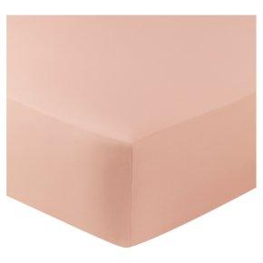 John Lewis Egyptian Cotton Fitted Sheet Blush Single