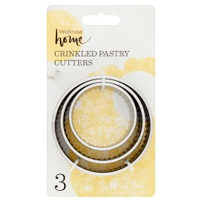 Waitrose Home 3 Crinkles Pastry Cutters