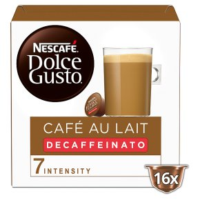 Nescafe Dolce Gusto Cafe Au Lait Decaf Coffee Pods 16s