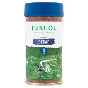Percol Fairtrade Delicious Decaf Instant Coffee