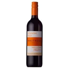 Waitrose Mellow and Fruity, Garnacha, Spanish, Red Wine