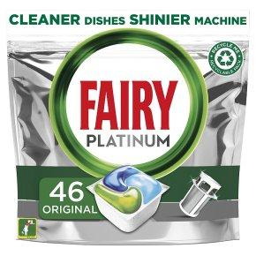 Fairy Platinum 46 Dishwasher Lemon Capsules