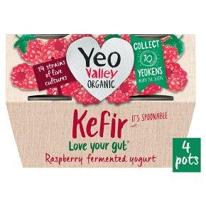Yeo Valley Organic Raspberry Kefir Yogurts