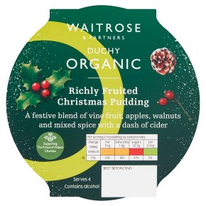 Duchy Organic Richly Fruited Christmas Pudding